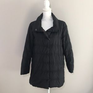 Eileen Fisher black puffer down jacket